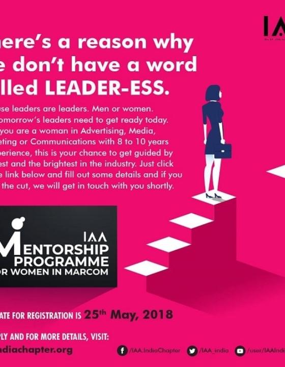 IAA Announces Mentorship Program For Women Leaders In Marcom