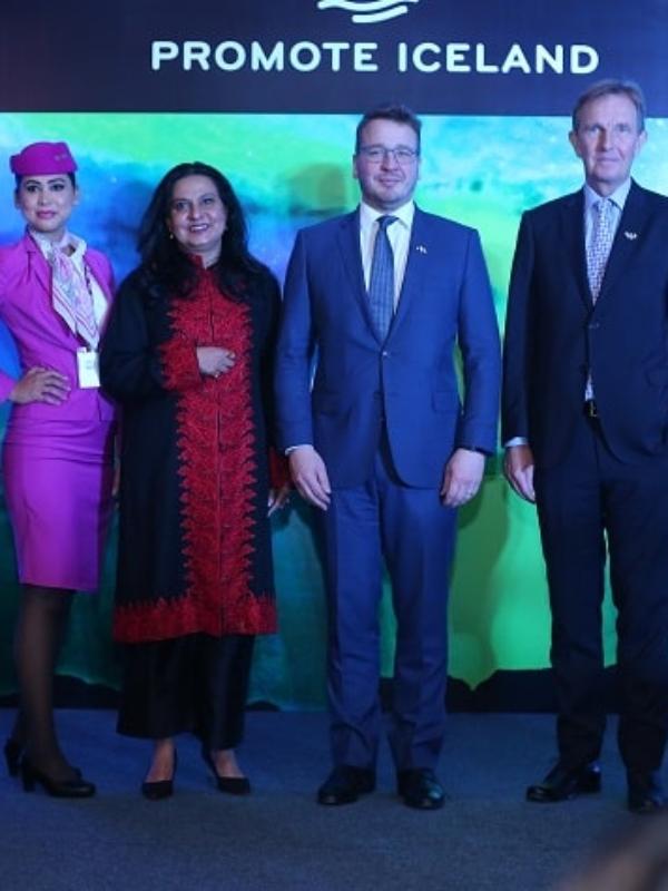 Iceland Ambassador To India Celebrates WOW air's Maiden Flight From New Delhi